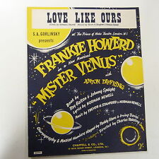 "song sheet LOVE LIKE OURS ""Mister Venus"" Frankie Howerd 1958"