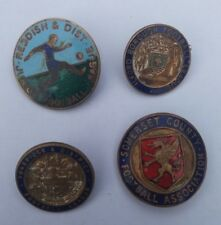 LOT 4x VTG FOOTBALL BADGES #3