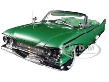 1960 PLYMOUTH FURY OPEN CONVERTIBLE CHROME GREEN 1/18 PLATINUM BY SUNSTAR 5404
