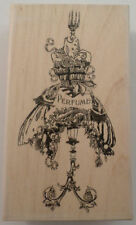 Stampington And Company Wooden Rubber Stamp S7348 Steampunk Perfume Dressform