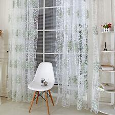 Vintage Tulle Voile Door Window Curtain Balcony Panel Sheer Scarf Valances Drape