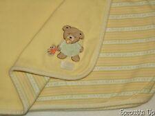 CARTERS baby blanket yellow bear JOY IS A..... gingham edge