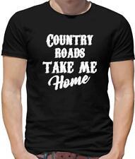 Country Roads, Take Me Home Mens T-Shirt - Song Lyrics - John Denver - 70's