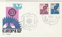 Italy 1967 Europa CEPT Linked Cogs Slogan Cancels FDC Stamps Cover ref 22460