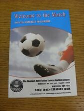 09/04/2014 Thurrock Sunday League Division 4 FINALE DE COUPE: scruttons V Stanford Tow