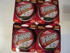 4 - Spools Of Berkley Trilene Xl Smooth Casting Low Vis Green 12 Lb Test New