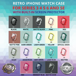 Apple Watch 3 4 5 6 & SE Protective Case Screen Protector Cover 38/42/40/44mm