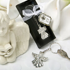 Guardian Angel Key Ring Favor Baptism, Christening, Communion Party Gift Favors
