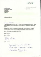 "Esta Rantzen. Hand Signed BBC Letter. 1996 ""faith in me is justified""  YM.21"