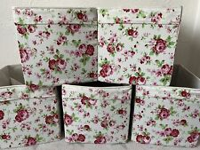 Ikea & Cath Kidston Rosali Floral Drona Storage Boxes Expedit Kallax Hemnes x5