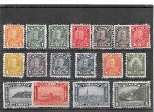 CANADA 1930-1931 DEFINITIVES,SCOTT 162-177 MINT SET ONE.