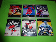 EMPTY CASES!  NHL Face Off 97 98 99 00 01 Sony Playstation 1 PS1 PS2 PS3 PSX