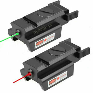 Tactical Green/Red Dot Laser Sight Low Profile For Rifle 20mm Picatinny Rail
