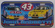 1990's NASCAR DRIVER 43 JOHN ANDRETTI PLASTIC BOOSTER License Plate
