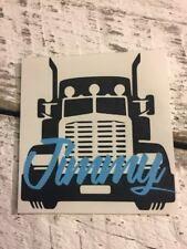 Custom Trucker Vinyl Decal for Stainless Tumblers, Coffee Travel Cups, Mugs