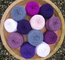 Mixed BALLS CRAFT PACK.  PURPLE MIX. DK knitting/crochet YARN. 250g.CRAFTS