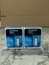2 boxes of Contour Next test strips 50 count. 100 strips total.