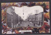 Circa 1908 Vintage Patriotic Postcard Main Street PICTON, Ontario Canada