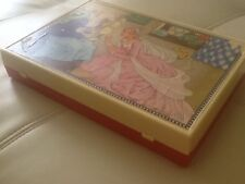 Vintage Toy Fairytale Puzzle Block Cubes In Plastic Case Made in W. Germany