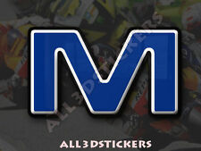 Adesivi Resinati Lettera M 3D Colore Blu Dimensione 100mm