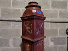 """~ ANTIQUE CARVED OAK NEWEL POST ~  52"""" TALL ~  ARCHITECTURAL SALVAGE ~"""