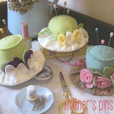 MILLINERS PINS Pincushion - Sewing Craft PATTERN - Needlework Felt