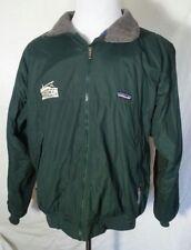 Patagonia Soft Shell Jacket Wind Rain Full Zip Fleece Lined dk green Men's L
