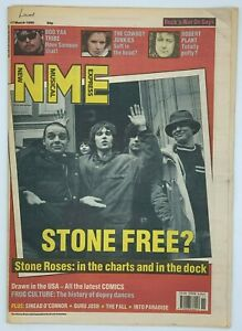 NME 17 March 1990 Stone Roses Cover Boo Yaa Tribe Cowboy Junkies Robert Plant