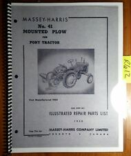 Massey Harris 41 Mounted Plow for Pony Tractor Manuf 1950- Repair Parts Manual