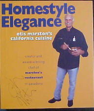 "OTIS MARSTON SIGNED ""HOMESTYLE ELEGANCE"" SOFT COVER BOOK! COOK BOOK"