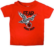 86049 Fear Red Baby Toddler T-Shirt More Beer Punk Rock Sourpuss Kids Child (6M)