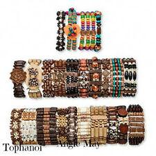 Wholesale Lot 12* Boho Wood Bracelets Great Jewelry Mix