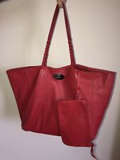 Mulberry Dorset Tote In Red Nappa Leather Shoulder Bag / Silver Postman's Lock