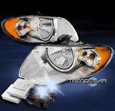 For 2005 2006 2007 Chrysler Town&Country Headlights Headlamp Chrome w/8K HID Kit