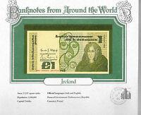 World Banknotes Ireland 10-07-1984 1 pound UNC P 70c.8 UNC Prefix DKI