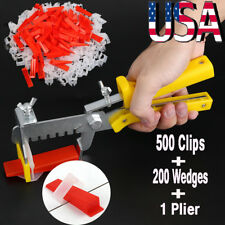 701pc Clip Tile Leveling System Kit Floor Wall 1.5mm Tile Spacer Tiling Tool Set