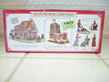 """'All in One' from Liberty Falls - """"1998"""" Phillips Home, Water Tower, Pewter Set"""