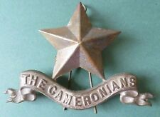 Badge- The Cameronians Pipers Badge LARGE Badge WM 3 LUGS, Rare