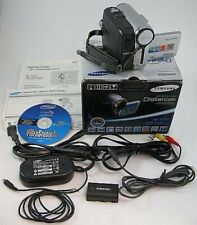 Samsung Sc-D353 D353 Digital Camcorder Sold As Is silver