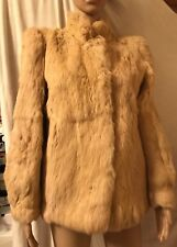 THE TAUBE COLLECTION, CHAMPAGNE. SIZE 14, 100% FRENCH RABBIT FUR, COAT/JACKET