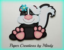 CRAFTECAFE MINDY SKUNK OUTDOORS FARM DIECUT premade paper piecing scrapbook