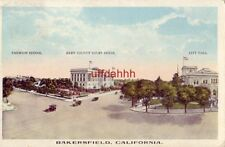 VIEWS OF EMERSON SCHOOL KERN COUNTY COURT HOUSE CITY HALL BAKERSFIELD, CA 1919