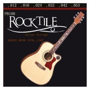 Corde de Guitare Folk Acoustique Western 12-53 finition avec Ball Ends