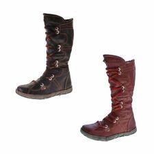 TMA Leder Winter Stiefel Damen Schuhe gefüttert echt Leder TMA 2018 Reptil Print
