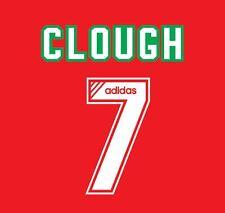 No 7 Clough Liverpool 1993-1995 Home Football Nameset for Shirt LFC