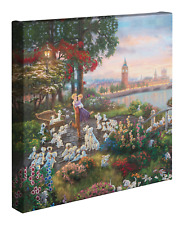 Thomas Kinkade Studios Disney's 101 Dalmations 14 x 14 Canvas Gallery Wrap