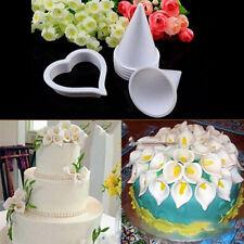 DIY Cake Decor Tools Sugar Fondant Gum Paste Icing Calla Lily Flower Cutter Mold