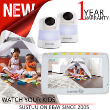 "Summer Infant Wide View Duo 5"" Monitor (Dual Cam)│Remote Pan,Tilt & Zoom Camera"