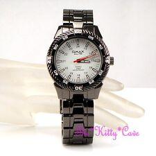 OMAX Sporty 5atm 5Bar Waterproof Seiko Movt Hematite Black Steel Watch DBA637