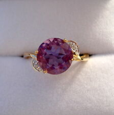 2.87ct Natural Purple Spanish Fluorite Gold Ring